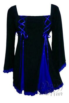 Dare To Wear Victorian Gothic Boho Women's Plus Size Gemini Princess Corset Top Black/Royal - Apparel - Frequently updated comprehensive online shopping catalogs Cool Outfits, Fashion Outfits, Womens Fashion, Female Outfits, Night Outfits, Plus Size Corset, Victorian Corset, Gemini, Gothic Fashion