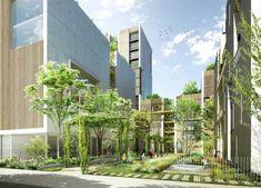 ZAC de la Cartoucherie : un nouvel éco-quartier dans Toulouse Toulouse, Urban Design, Modern Design, Architecture Visualization, Green Architecture, Green Park, Urban Farming, Master Plan, Exterior