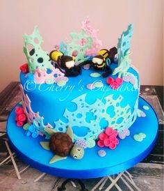Double Scuba Diver cake