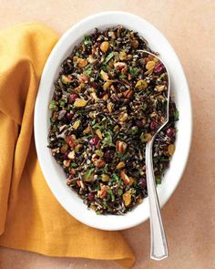 Wild-Rice Pilaf with Cranberries and Pecans - I love this dish and have made it many times. Guests tend to like it too :)
