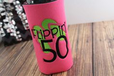 Birthday Can Cuddler® & Free KOOZIE® - with purchase-Select Your Size; Can, Slim Can, Water Bottle, 8 oz, Longneck Beer Bottle Holder Size 50th Birthday Party, Birthday Gifts For Her, 50 And Fabulous, Perfect Gift For Her, Bottle Holders, Gifts For Coworkers, Canning, Trending Outfits, Water Bottle