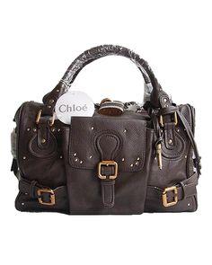 Chloe Paddington Satchel Classic Style Chocolate