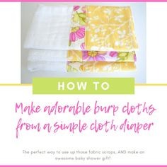 DIY Toddler Bedding {making a quilt with batting WITHOUT using binding! Burb Cloth Pattern, Diy Baby Bibs Pattern, Bib Pattern, Baby Clothes Patterns, Burp Cloth Diapers, Baby Burp Cloths, Diy Origami, Baby Sewing, Machine Quilting