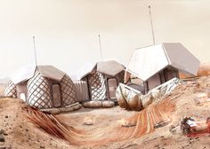 Foster + Partners has unveiled designs for a NASA Mars settlement for four astronauts that could be 3D printed.