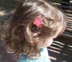 crochet flower for her hair