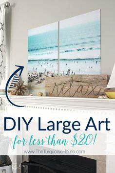 DIY Large Art for less than $20 using color engineering prints