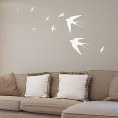 Flying Swallows Set- Vinyl Wall Sticker Decal