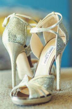 Silver Peep Toe Jimmy Choo Stiletto Wedding Shoes