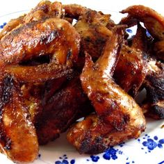 Chinese Chicken Wings - so good, & so easy to make. : in the kitchen with Kath Chinese Chicken Wings, Roasted Chicken Wings, Asian Chicken, Japanese Chicken, Chicken Feed, Barbecue Chicken, Baked Chicken, Chicken Spices, Chicken Marinades