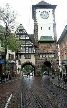 Freiburg clock tower, Cologne, Germany - by Steveandwhitney Oh The Places You'll Go, Places To Travel, Places To Visit, Shopping Places, Visit Germany, Germany Travel, Rhine River Cruise, Cologne Germany, Black Forest