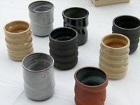 Love these glasses by our friend, and favourite potter, Jeff Martens. The Potter's Hand, Creative Inspiration, Dinnerware, Arts And Crafts, Pottery, Glasses, Tableware, Dinner Ware, Ceramica