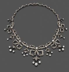 Diamond tiara convertible into a necklace