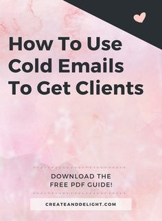 Want to find out more about how you can use cold emails to get clients in a genuine and non-spammy way?  I've put together a simple PDF guide, including • My exact email conversation with a client whom I signed on easily + how I followed up with her • Tips on how to use cold emails to reach out to people to build connections & convert them into clients • How cold emails can work for you if you do not offer any business related services (e.g. health/wellness coaching)