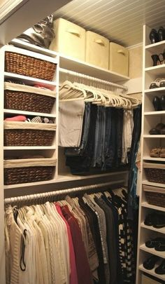 Using the closet all the way up