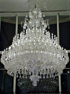 Baccarat crystal chandelier by Megara Liancourt, via Flickr