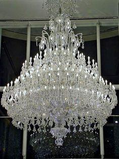 Baccarat crystal chandelier by Megara Liancourt, via Flickr