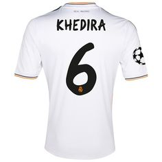 Real Madrid UEFA Champions League Home Shirt 2013 14 with Khedira 6 pr  Real fa222e69e4