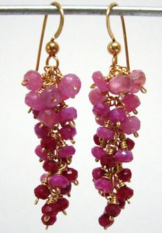 The birth stones of July are beautiful pink and red Ruby's.
