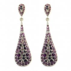 Crystal Teardrop Wedding Earrings Purple Amethyst ($16) ❤ liked on Polyvore featuring jewelry, earrings, teardrop earrings, amethyst teardrop earrings, crystal earrings, tear drop earrings and purple amethyst earrings
