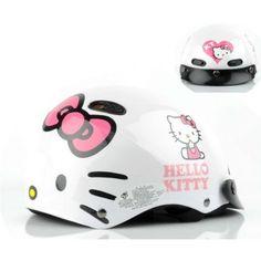 Hello Kitty Adult Motor Bike Helmet Face White Sanrio