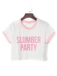 slumber party| $13.41  pastel kawaii fairy kei pastel grunge fachin crop top top under20 under30 free shipping choies