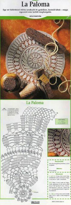 Crochet Bedspread Pattern, Free Crochet Doily Patterns, Crochet Doily Diagram, Crochet Chart, Thread Crochet, Crochet Motif, Crochet Lace, Knitting Patterns, Crochet Dreamcatcher