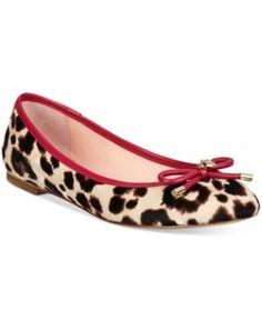 kate spade new york Willa Ballet Flats - Blush/Brown Leopard 5.5M