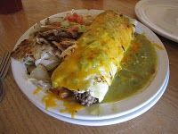 Green Chile Burrito (This was made with Hatch, New Mexico Chiles - The Gold Standard for flavor and kick!)