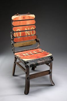Love this upcycled sign chair!