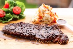 Steak au Uziza with Cream of Uziza sauce - cooking Steak Nigerian