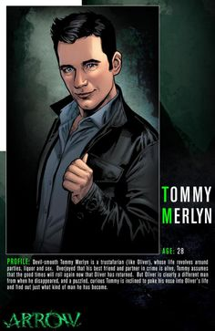 Get to know the party animal Tommy Merlyn! Don't miss the all-new episode of Arrow Wednesday at on The CW. Cw Tv Series, Arrow Tv Series, The Flash, Tommy Merlyn, Arrow Cw, Team Arrow, Dinah Laurel Lance, Lance Black, Tv Show Casting