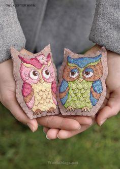 Cross Stitcher 273 - Owl Keep You a Warm