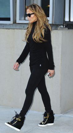 Jennifer Lopez Giuseppe Zanotti Sneaker Wedges