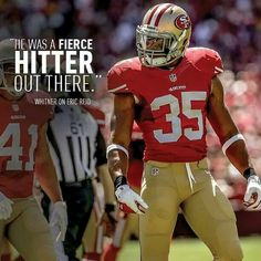 eric reid looked so good out on the field against the packers last sunday. i know he'll do the same today with seattle! 49ers Players, 49ers Fans, Niners Girl, Eric Reid, Lombardi Trophy, Vince Lombardi, Colin Kaepernick, San Francisco 49ers, Football Helmets
