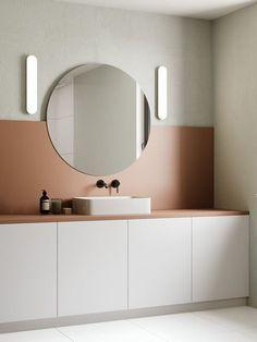 Badkamer inspiratie - minimalisme - colour blocking