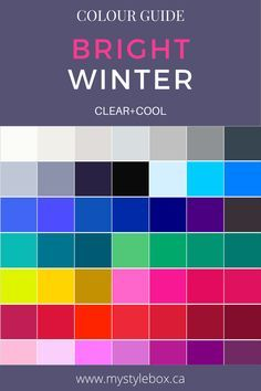 Deep Winter Palette, Cool Winter Color Palette, Soft Summer Palette, Deep Winter Colors, Color Blocking Outfits, Winter Typ, Clear Winter, Dramatic Classic, Cool Undertones
