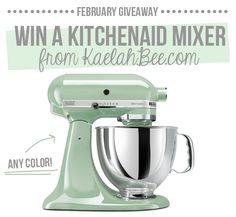 """I hope I'm the lucky winner of a Kitchenaid mixer on @kaelahbee's blog! www.KaelahBee.com"""