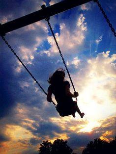 Swinging silhouette!