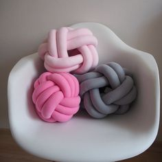 Knot pillow pink knotted pillow knot cushion от deloartamonovoj