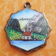 Vintage enamel KONIGSSEE GERMANY SCALLOP copper souvenir travel charm from A Genuine Find