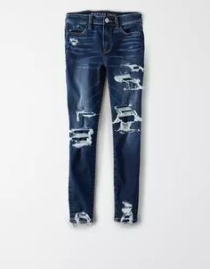 Cute Ripped Jeans, Cropped Jeans, Ae Jeans, Back To School Outfits For Kids, High Waist Jeggings, Sassy Pants, Bodycon Dress With Sleeves, Curvy Jeans, Low Rise Skinny Jeans
