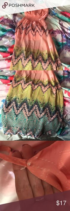 Pink Maxi Dress Beautiful spring dress! Selling because I don't need formal dresses for anything anymore really Buckle Dresses Maxi