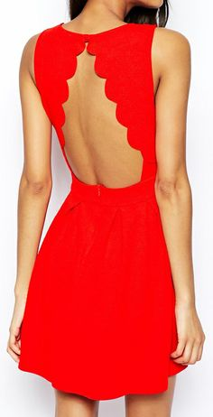 Red the color of passion unique design to flatter your body. #truebeautybyRenee