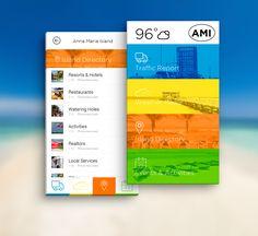 Local Island App,  #ui #ux #mobile #app #design #flat