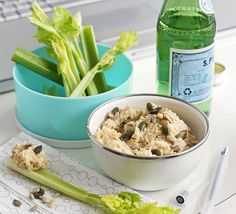Dip vegetable crudités into this low-fat, moreish dip for a superhealthy snack fix