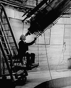 Percival Lowell observing mars (it's his birthday today, 3/13)