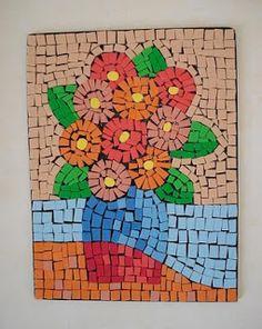 Mosaic Art Projects, Easy Art Projects, Mosaic Crafts, Paper Mosaic, Mosaic Tile Art, Mosaics For Kids, Arte Elemental, 8th Grade Art, Handprint Art