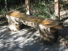 Oak Logs landscaping | Log Bench