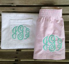 Monogrammed Pajama Set Monogrammed Boxers by LolaLaneGifts on Etsy
