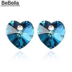 Swarovski Heart Stud Crystal Earrings for women Christmas Gift //Price: $13.99 & FREE Shipping //     #accessories #necklaces #pendants #earrings #rings #bracelets    FREE Shipping Worldwide     Buy one here---> https://www.myladyempire.com/swarovski-heart-stud-crystal-earrings-for-women-christmas-gift/